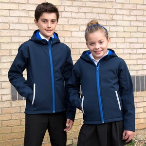 RESULT CORE YOUTH TX PERFORMANCE HOODED SOFT SHELL