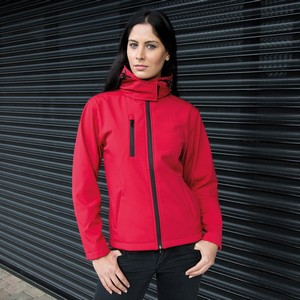 RESULT CORE WOMENS TX PERFORMANCE HOODED SOFT SHELL JACKET