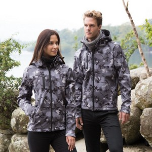CAMO TX PERFORMANCE HOODED SOFT SHELL JACKET