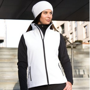 RESULT CORE WOMENS PRINTABLE SOFT SHELL BODYWARMER