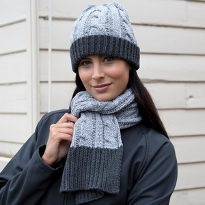 RESULT WINTER ESSENTIALS SHADES OF GREY SCARF