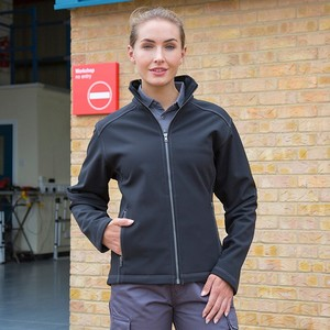 WOMENS TREBLE STITCH SOFTSHELL JACKET