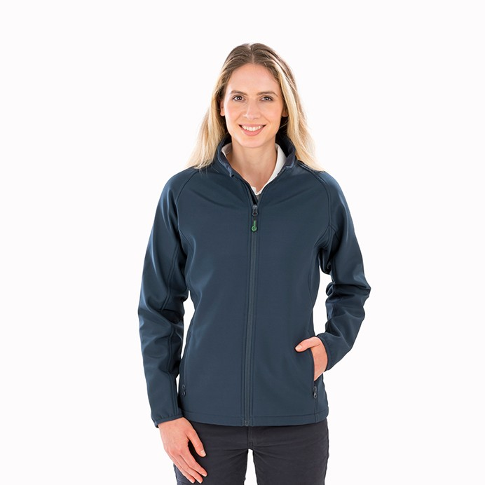 Genuine Recycled Womens Recycled 2-Layer Printable Softshell Jacket
