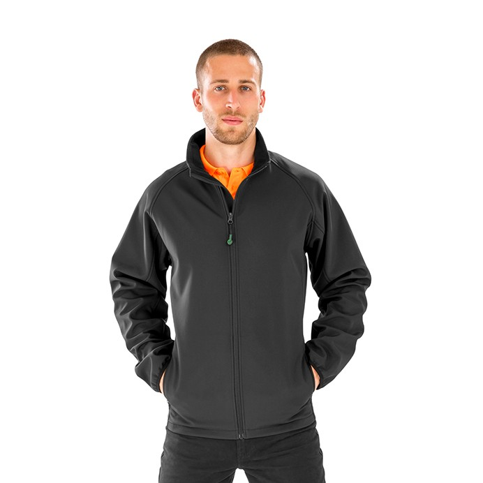 Genuine Recycled 2-Layer Printable Softshell Jacket