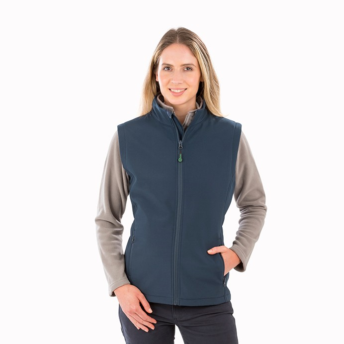 Genuine Recycled Womens Recycled 2-Layer Printable Softshell Bodywarmer