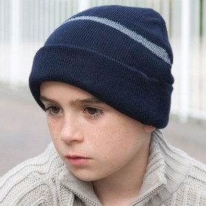 RESULT JUNIOR THINSULATE? WOOLLY HAT WITH REFLECTIVE WOVEN