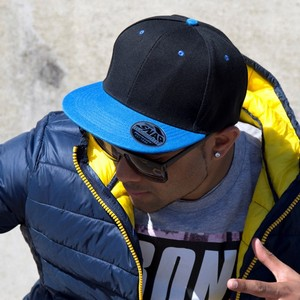 Headwear Bronx Original Flat Peak Snap Back Dual Colour Cap