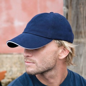 RESULT MEMPHIS BRUSHED COTTON LOW PROFILE SANDWICH PEAK CAP