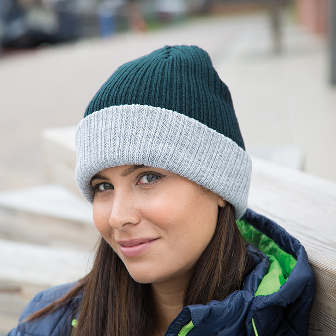 Winter Essentials Double Layer Knitted Hat