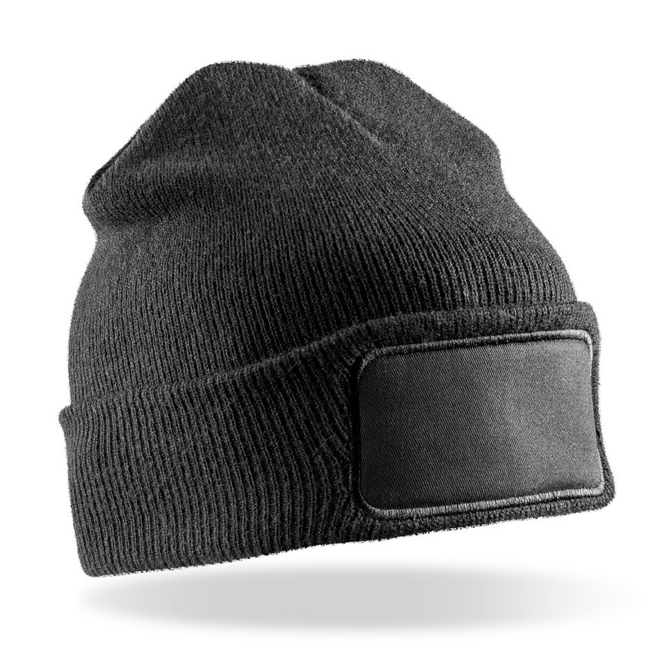 Genuine Recycled Double Knit Printers Beanie