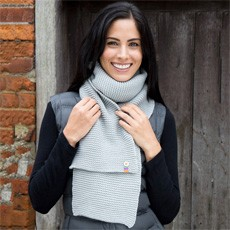 Winter Essentials Button Trim Scarf